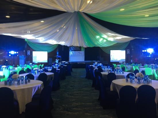 Transcorp Hilton Abuja: Congress Hall during our event