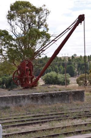 Platform Crane - Picture of Burra Railway Station, Burra