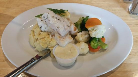 La Porchetta: Grilled Fish with two sides