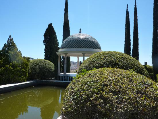 La Concepcion Jardin Botanico Historico de Malaga: The mirador gave an estensive view of Malaga..and the motorway.