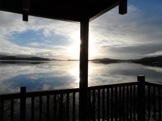 Lodge on Loch Lomond: View of Loch Lomond from the Deluxe Corbett room balcony.