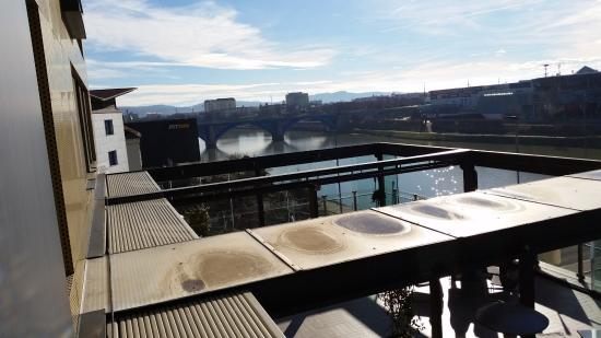 Hotel City Maribor: Terrace of top-roof restaurant