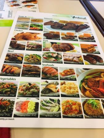 menu picture of aristocrat restaurant mall of asia pasay rh tripadvisor com ph