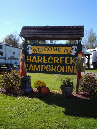 Corry, PA: Campground Sign Entrance