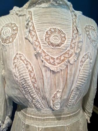 Darrow, LA: Intricate needlework is featured in this dress on display in the lady's bedroom
