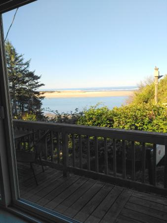 Netarts, OR: View from dining room of cottage 29