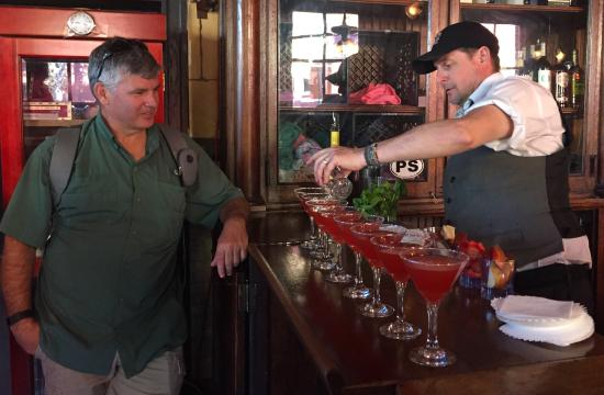 Fernandina Beach, FL: Watch our for this bartender - he's a sly one!
