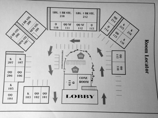 Amazing Pacific Gardens Inn: Layout Of Rooms Nice Design