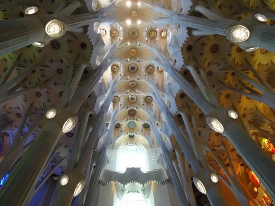 Interieur sagrada familia picture of basilica of the - Sagrada familia interieur ...