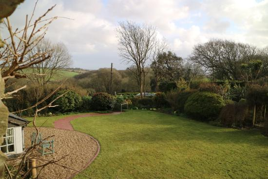 Bodrean Manor Farm: This was part of the extensive garden views from my bedroom.