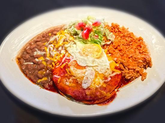 Corrales, Nuevo Mexico: beef Enchiladas