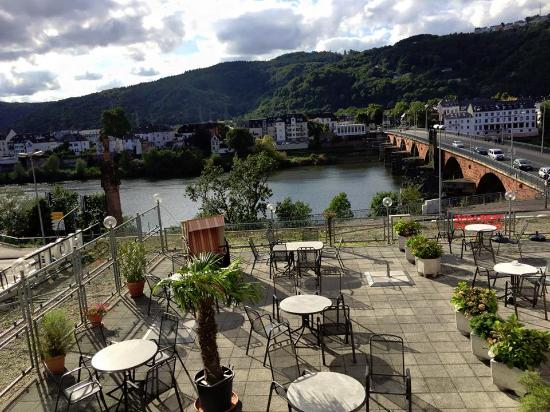 Hotel Constantin: Zimmeraussicht zur Mosel