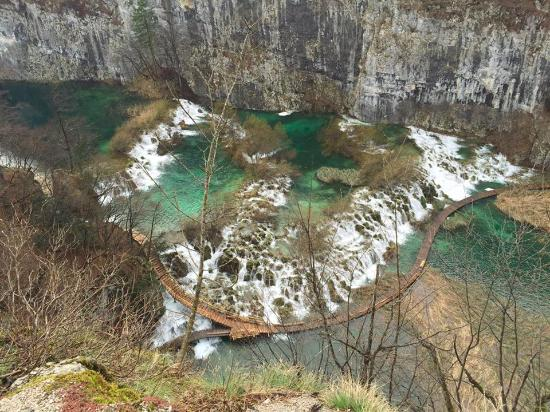 ZagrebTours - Day Tours: VIEW OF PLITVICE LAKES, MARCH 2016 - no lush greenery this early in the year!