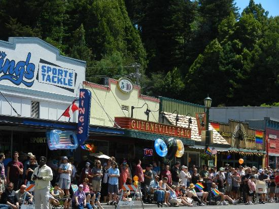 The Guerneville 5 & 10 is perfect for Parade Watching.