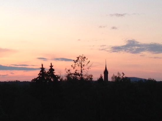 SPA VILNIUS Druskininkai: Evening view from the upper floor room in the summer