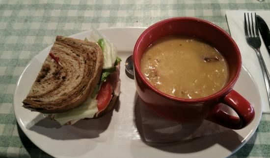 Conifer, CO: Turkey & cheesy potato soup