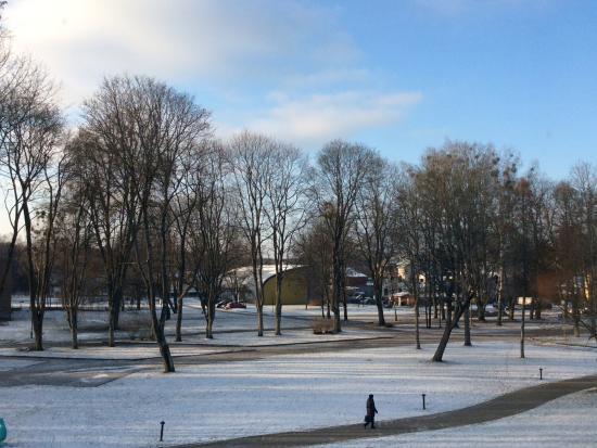 SPA VILNIUS Druskininkai: Winter view from the hotel room
