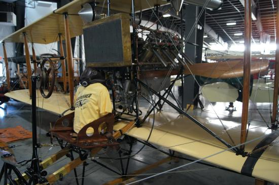 Hood River, OR: 1910 Curtiss Pusher airplane