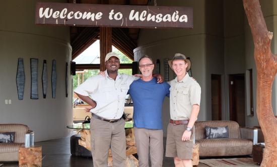 Ulusaba Private Game Reserve, Republika Południowej Afryki: Eric, me and Matt -- airstrip goodbye