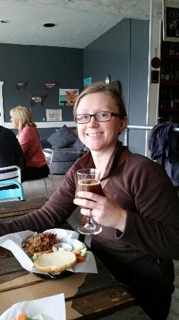 Poulsbo, WA: Pulled pork sandwich and Aporkolypse beer!