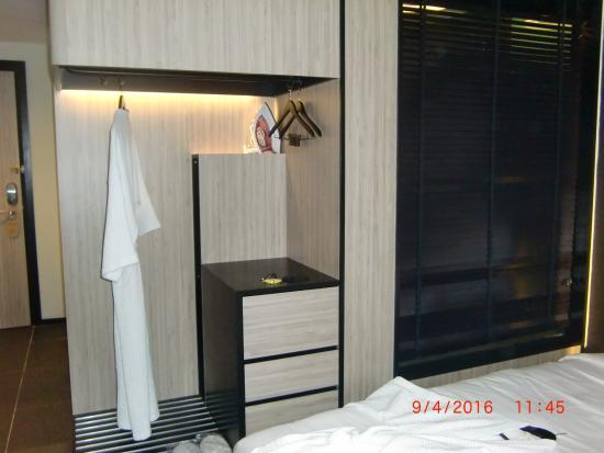 bathroom window on the right