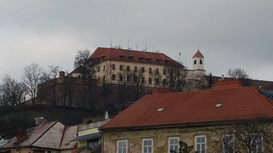 Brno, Tjeckien: View of Spilberk Castle from Lower Elevation