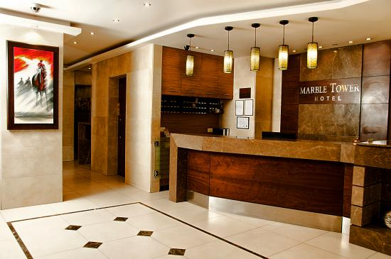Marble Tower Hotel: Reception Area