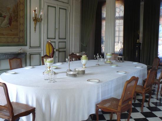 Valencay, Fransa: la salle a manger