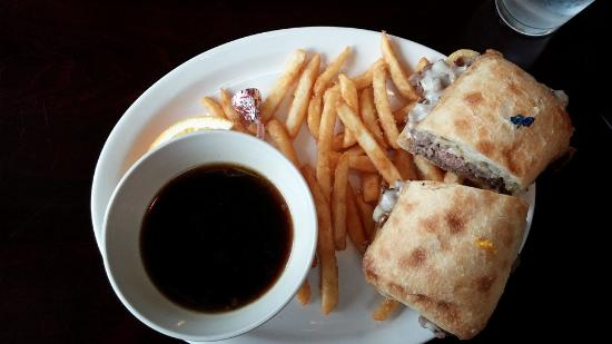 The Cove Restaurant : French Dip....the fries look sparse, but there really were more there than the photo represents!