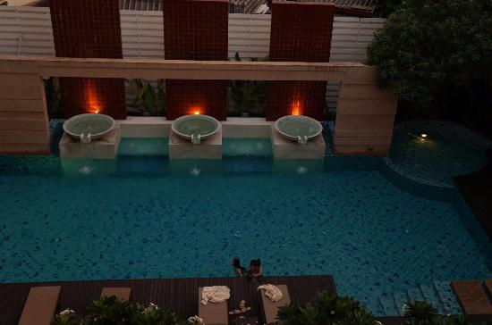 The Grand Napat: the pool in the evening