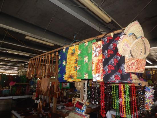 Salelologa Market: beautiful colourful lavalavas (sarongs)...