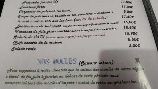 Le cata marrant prefailles restaurant avis num ro de - Poisson marrant ...