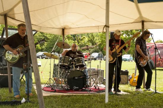 King Ferry, NY: The Delta Mike Shaw Band playing at Treleaven Windery's Summerpalooza 2015.