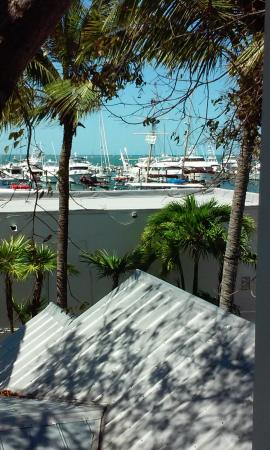 Key West Harbor Inn: View of the harbor from outside our room.