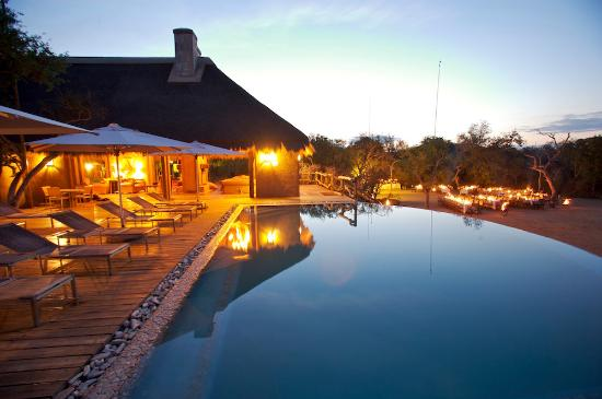 Kapama Private Game Reserve, Sudáfrica: Pool area