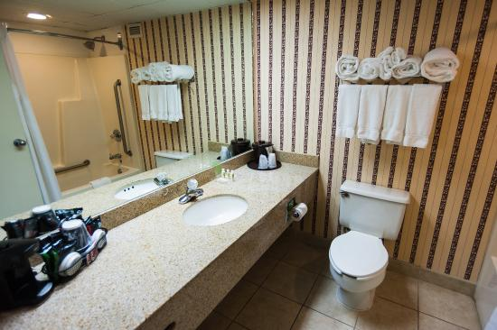 Swedesboro, Nueva Jersey: Spacious Guest Bathroom with Bath and Body Works Amenities