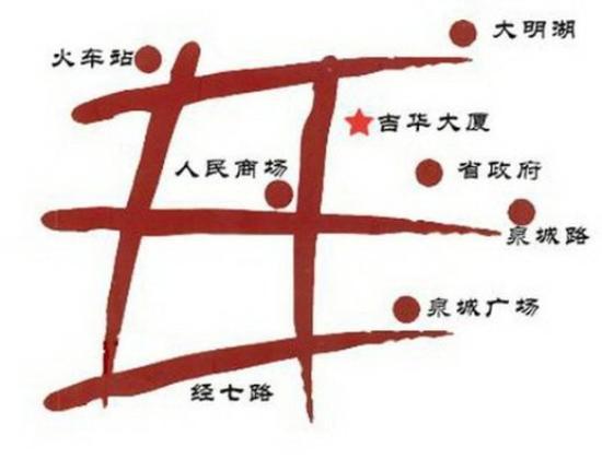 Ji Hua Hotel : Map
