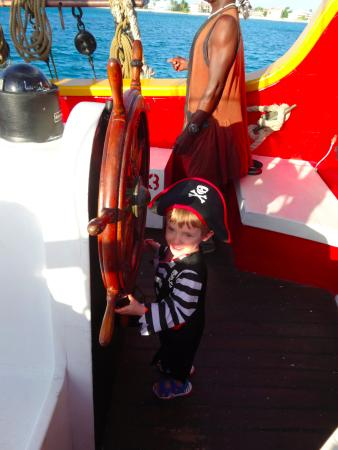 The Jolly Roger: Sammy takes the helm