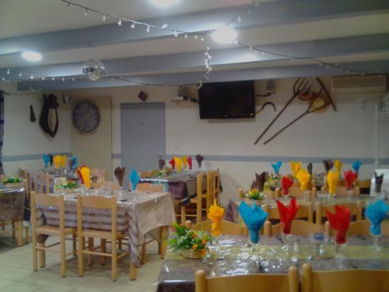 Le Fugeret, France: Salle de Restaurant