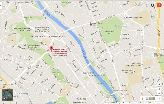 Anglesea Motel & Conference Centre: Map