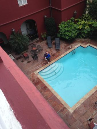 pool view from our 3rd floor room picture of le richelieu in the rh tripadvisor com