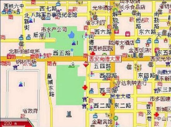 Shangde Hotel: Map