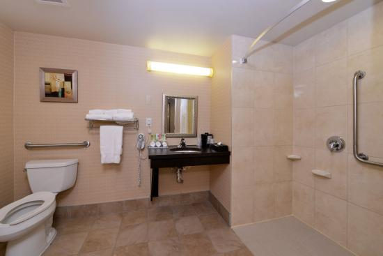 Holiday Inn Express Hotel & Suites Halifax Airport: Accessible washroom for your convienence