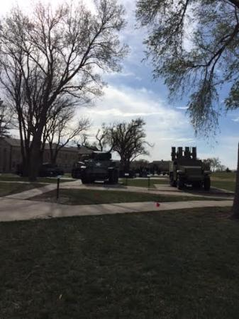 Fort Riley, KS: Many equipment pieces on site for view