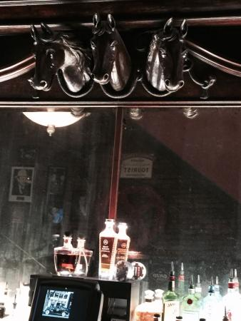 horse heads over the bar at ohio club picture of ohio club hot rh tripadvisor com
