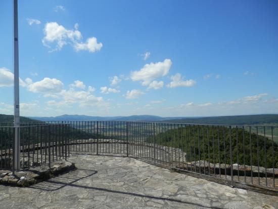 Leymen, ฝรั่งเศส: point de vu du haut de la tour