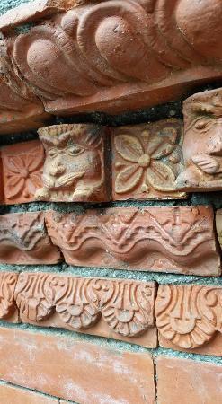 bhaktapur paradise hotel decorative bricks on the outside wall - Brick Hotel Decoration