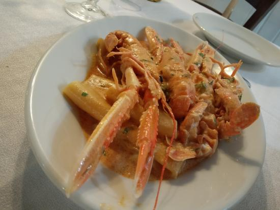 La Cantinaccia By Ercole Pilade: pasta with king prawns tomato sauce and cream! another amazing plate!