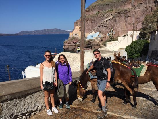 Hanson family trip to Santorini at Villa Renos in Apr 2016