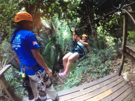 Belize Zip Line Canopy Tours: Coming in for a landing